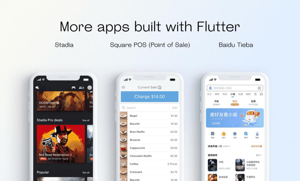 3 apps built with flutter