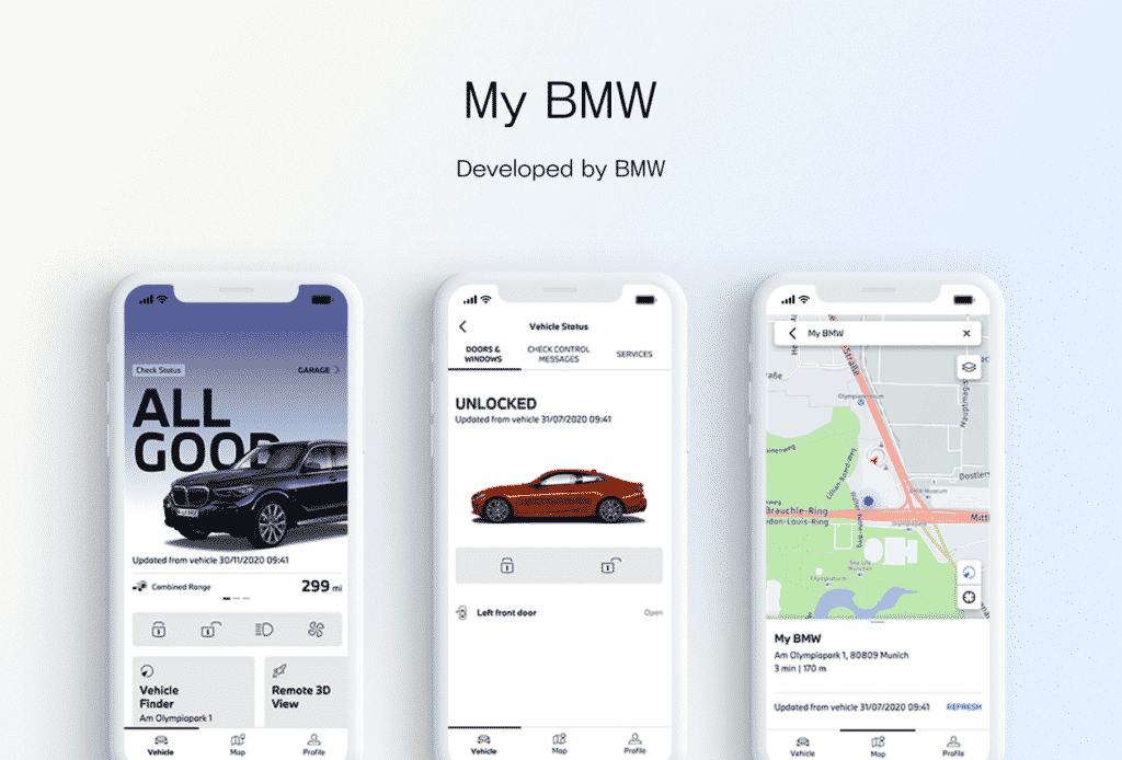 My BMW mobile app design