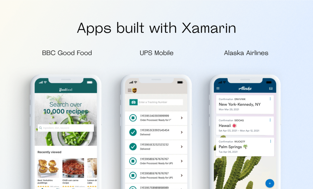 Examples of apps built with Xamarin