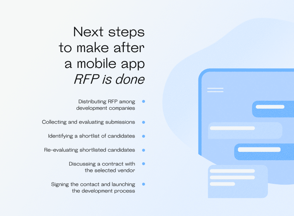 Next steps to make after a mobile app RFP is done