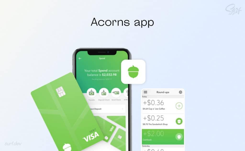 Acorns app mockup