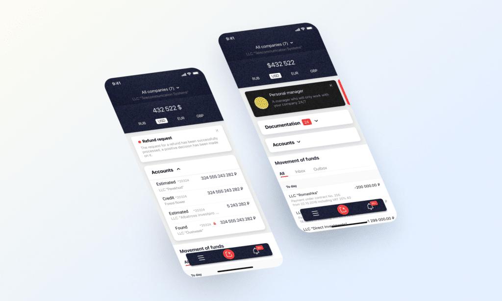 Cross-platform banking app for Societe Generale