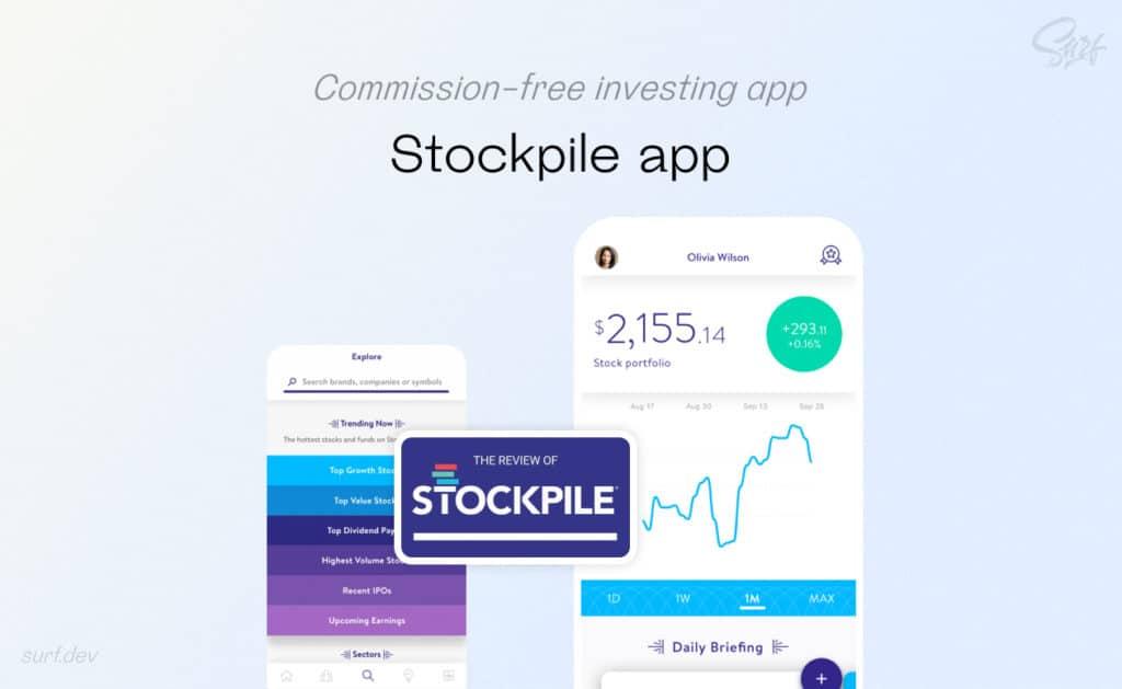 Stockpile app mockup