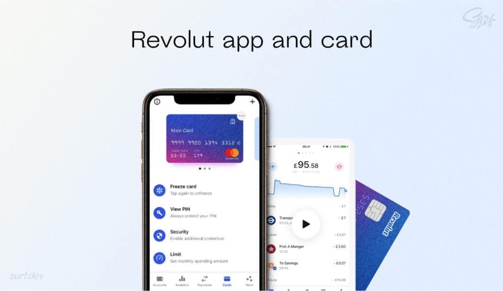 Revolut app and card