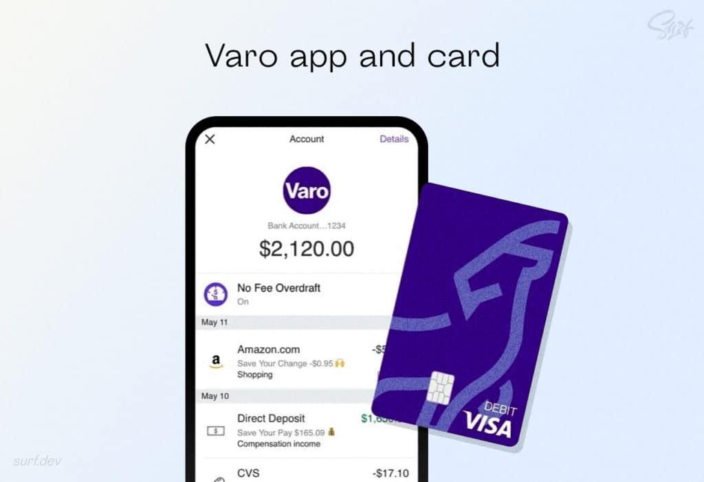 Varo app and card