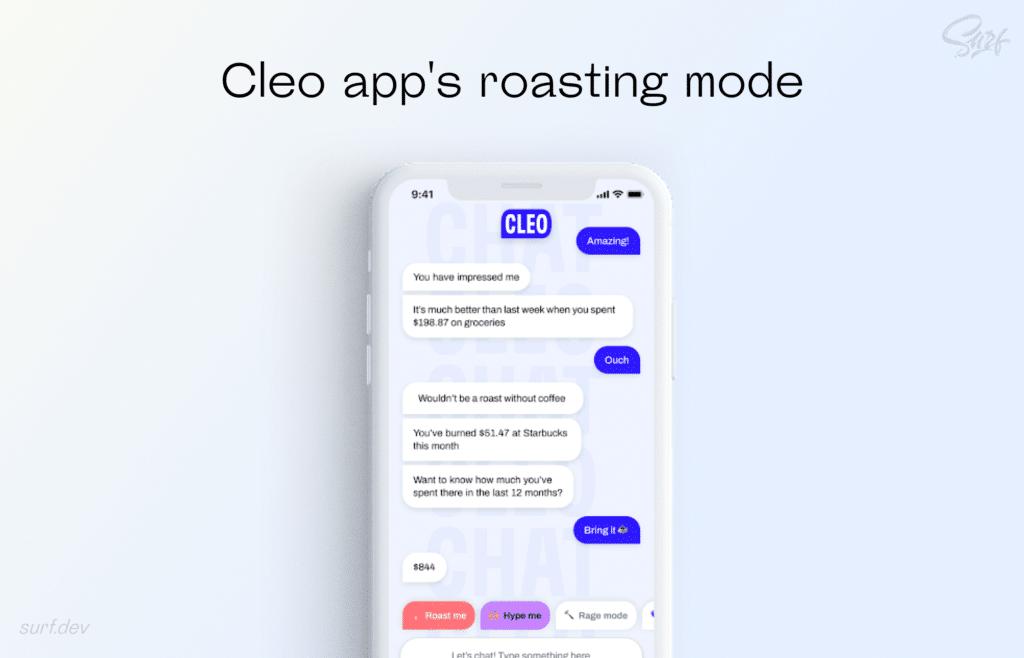 Cleo app's roasting mode